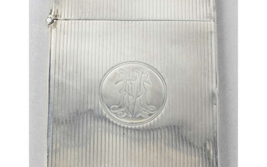 A late Victorian silver card case by George Unite.