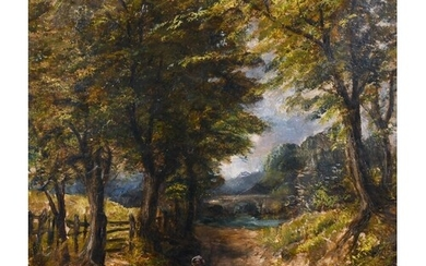 After Joseph Thors (1835-1920) British. A Landscape with Fig...