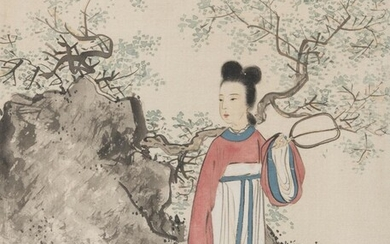 CHINESE SCHOOL EARLY 20TH CENTURY. REPRESENTATION OF TRADITIONAL CHINESE BEAUTIES. SEVEN MIXED MEDIA ON SILK