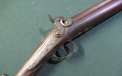 Early 19th C percussion cap (converted from flintlock) singl...