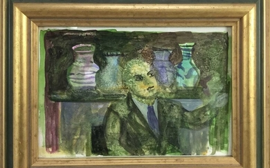 English School, Late 20th century, watercolour - The Auctioneer, unsigned , 10 x 15cm, glazed frame, Provenance: The Jenny Simpson Collection.