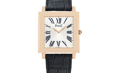PIAGET, PINK GOLD RECTANGULAR WATCH