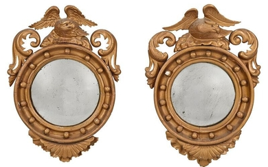 Pair Classical Style Eagle Convex Mirrors