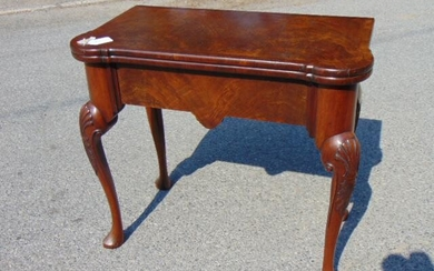 Queen Anne Style Mahogany Game Table, 19th century.