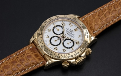 ROLEX, YELLOW GOLD DAYTONA INVERTED 6 WITH ZENITH MOVEMENT, REF. 16518