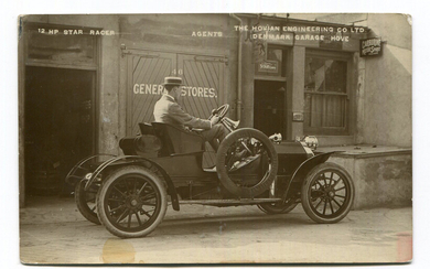 STAR. A collection of 27 postcards and photographs of Star motorcars, including 1 advertising postca