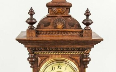 Wooden table clock, end of 19t
