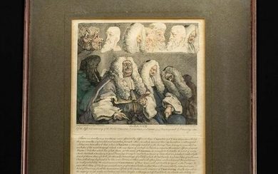 1758 William Hogarth Engraving - The Bench