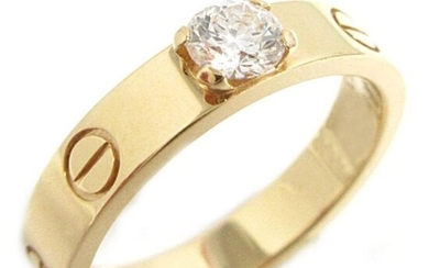 18 K Yellow Gold CARTIER Style Solitaire Diamond Ring