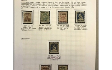 ** 1918-23 COLLECTION OF MINT & USED STAMPS AND COVERS: Albu...