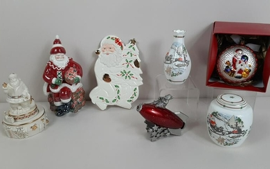 7 Pcs Christmas incl. Waterford and Lenox