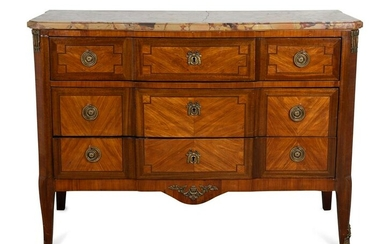 A Louis XV/XVI Transitional Style Kingwood and
