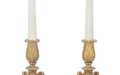A Pair of Large Gilt Bronze and Marble Eight-Light Candelabra on Giltwood Stands