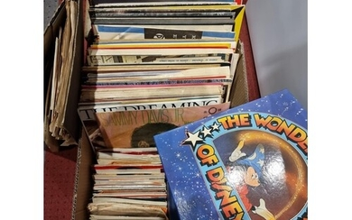 A collection of vinyl records including 45 and 33 rpm, recor...