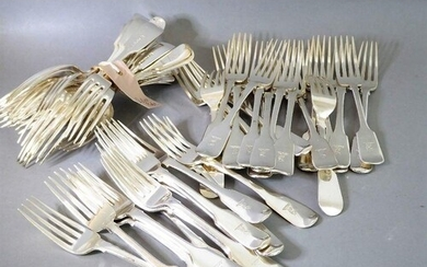 A large selection (33) of early/mid 19th century hallmarked ...