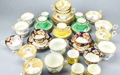 Antique Coffee Cups & Saucers Including Copeland