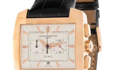 BAUME & MERCIER, 18K PINK GOLD REF. 65521 LIMITED EDITION 'HAMPTON SPIRIT XL' CHRONOGRAPH WRISTWATCH