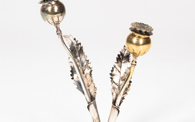 Buccellati Sterling Silver Figural Salt and Pepper Shakers