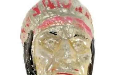 Christmas tree decoration, early, Indian head, glass