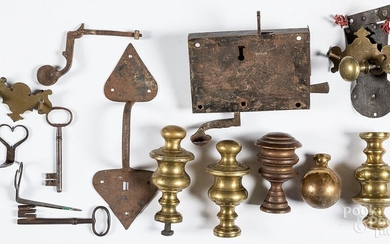 Early iron and brass hardware