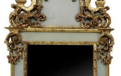 """FRENCH REGENCE STYLE GILTWOOD MIRROR 66.5"""" X 36.5"""""""