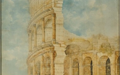 Figures at the foot of the Colosseum, Franz Kaisermann