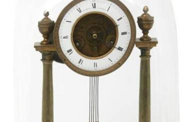 French Gilt Bronze Mantel Clock with Dome