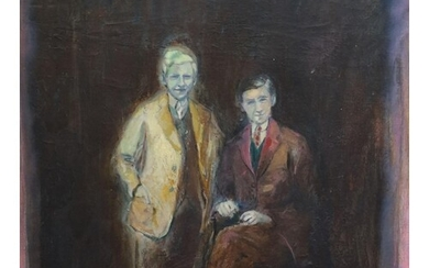 § Harold Mockford (1932-) Figures from the Past, 1979 Oil on...