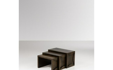 Jean Royère (1902-1981) Nesting tables with
