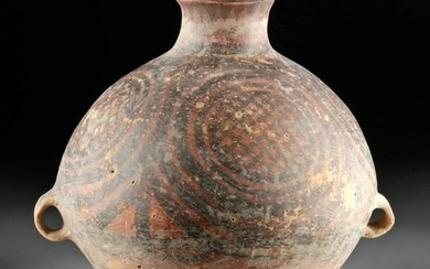 Large Chinese Neolithic Painted Pottery Vessel