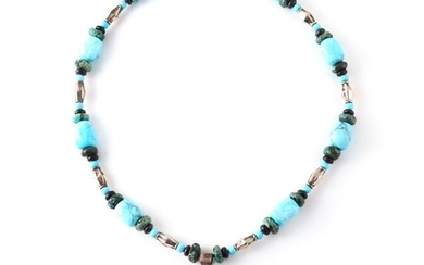 Native American Indian Zuni? sterling silver, turquoise