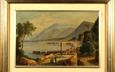 Oil on canvas on masonite. Early 19th century