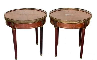Pair ContinentalTop Round Tables