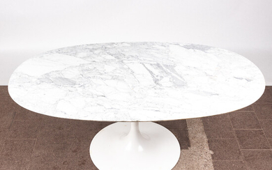 Table / dining table, marble, metal, 1960s.