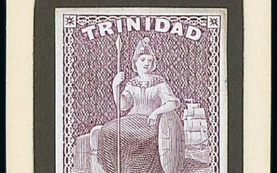 Trinidad 1862-63 Thick Paper (1d.) dull red, 4d. bright lilac, 6d. emerald and 1/- pale mauve...