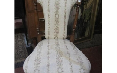 Victorian Nursing Chair On Casters.