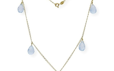 18 kt. Yellow gold - Necklace - 24.00 ct Topazs