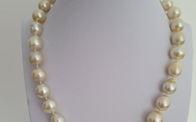 18 kt. Yellow gold - Necklace - South Sea Pearls 10-13 mm