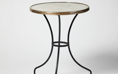 """1873145. TABLE """"GUÉRIDON"""", France Second half of the 19th century, blackened iron stand with tripod-shaped foot."""