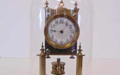 400 day clock, domed, German, Suspension in place, 1