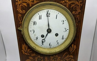 A 19th century French marquetry inlaid mantle clock