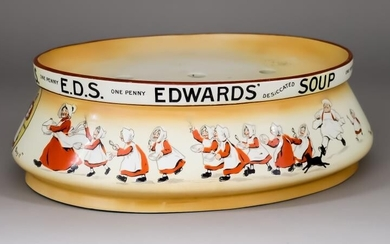 """A Grimwades Pottery """"Edwards Desiccated Soup"""" Oval Dish Stand,..."""