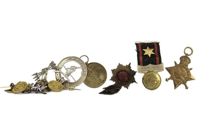 A PAIR OF WWI SERVICE MEDALS AWARDED TO LIEUT. C. W. WILSON