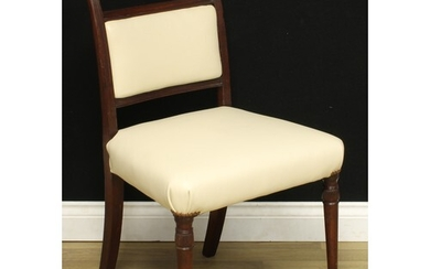 A Scottish Regency mahogany side chair, scroll back, the tur...