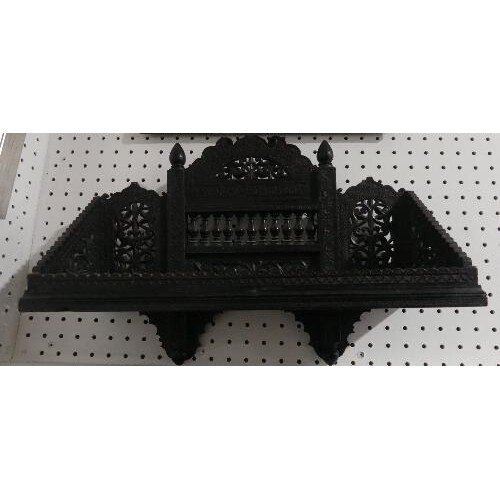 A late 19th century Anglo-Indian carved ebonised Wall Bracke...