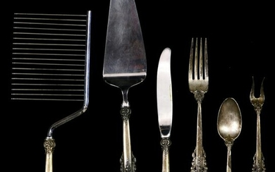 A (lot of 9) Wallace Grand Baroque sterling flatware