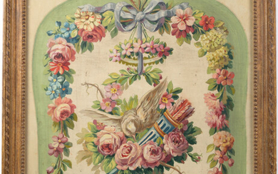 A painted allegorical floral study