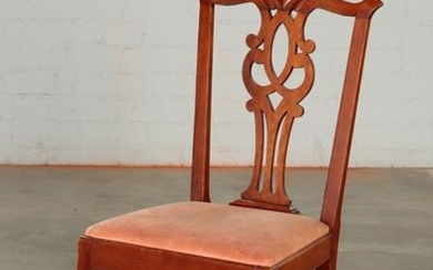 An American Chippendale cherry side chair