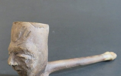 Antique Tobacco Clay Pipe