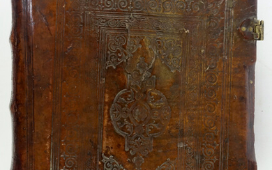 BOOK OF HOURS IN OLD CHURCH CYRILLIC TYPE, gilt lettered...